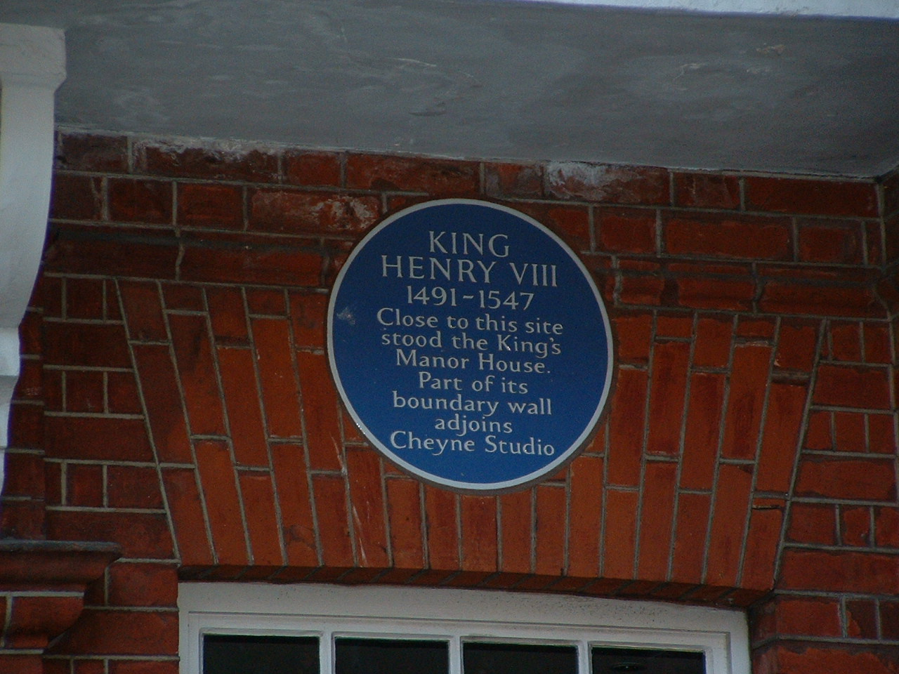 King Henry VIII Blue Plaque
