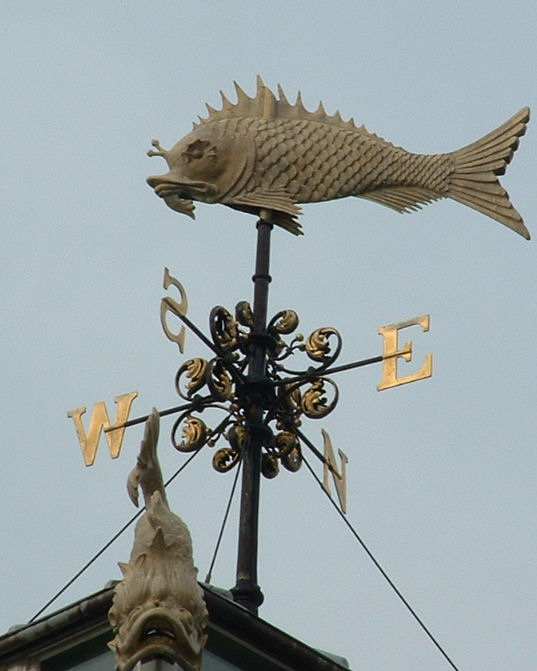 Fish Market Weather Vane