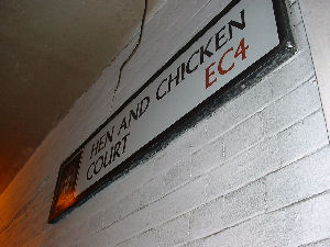 Hen and Chicken Court next door to Sweeney Todd�s shop