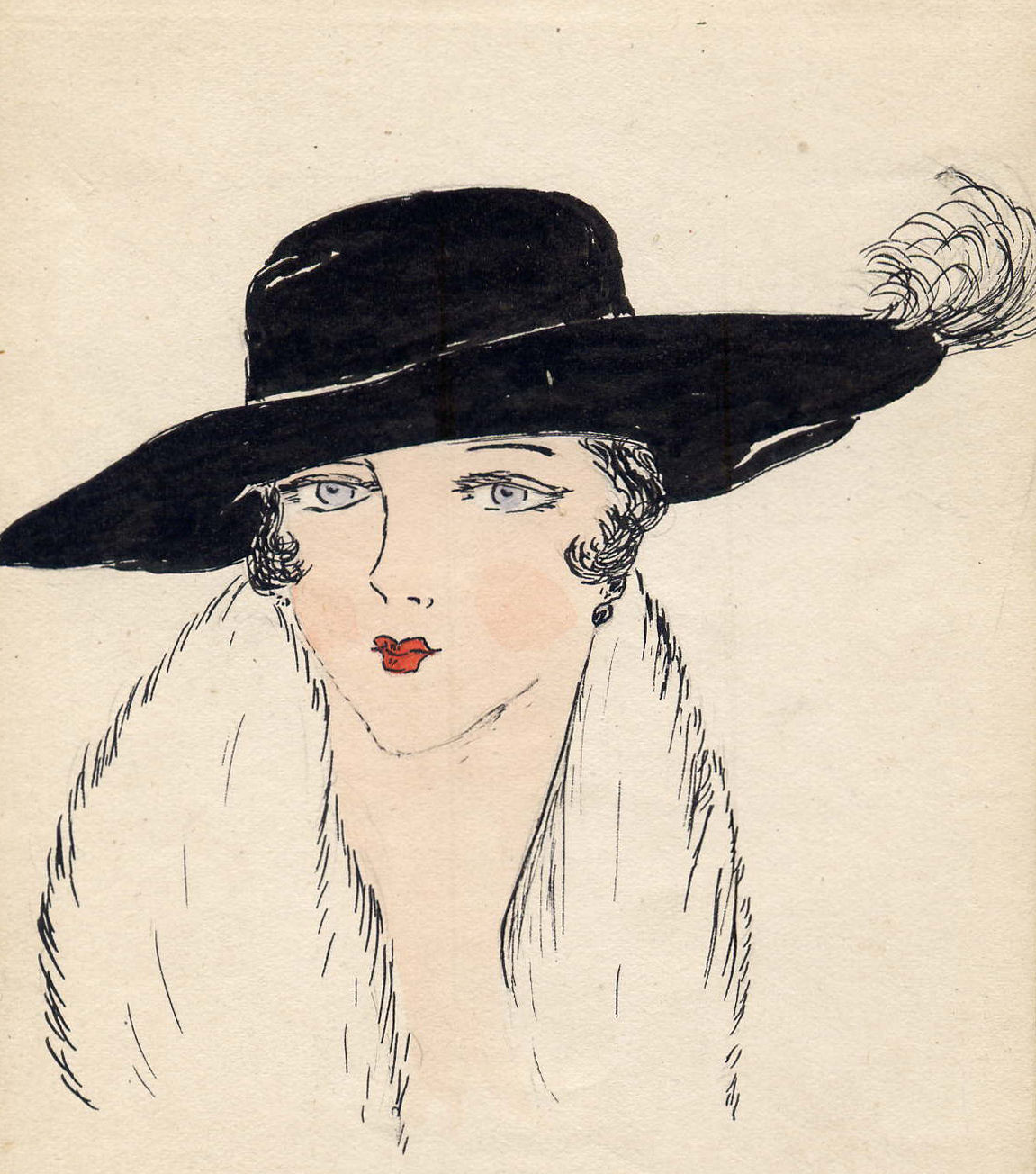 Edwardian lady with hat
