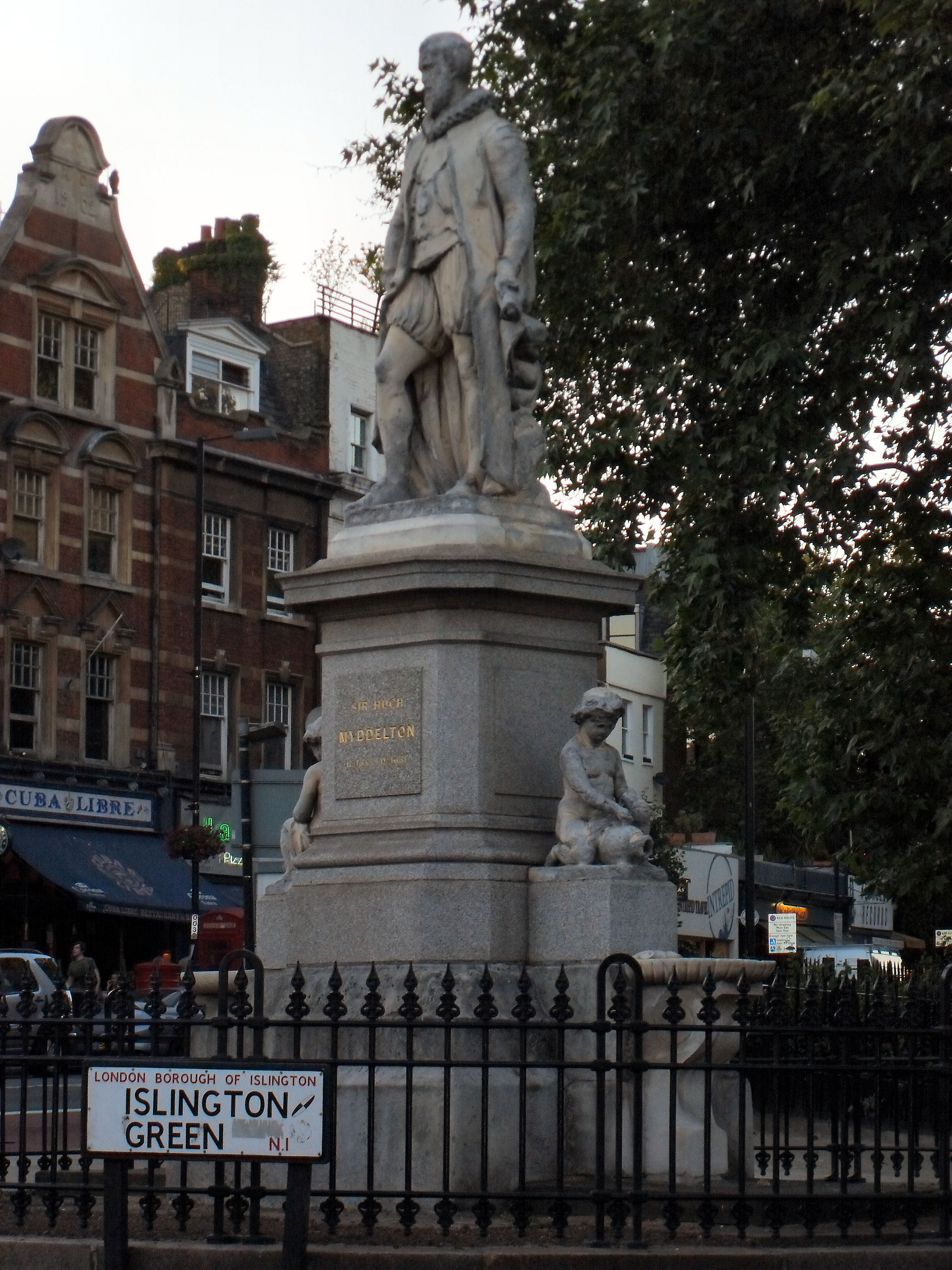 Sir Hugh Myddleton Statue Islington Green