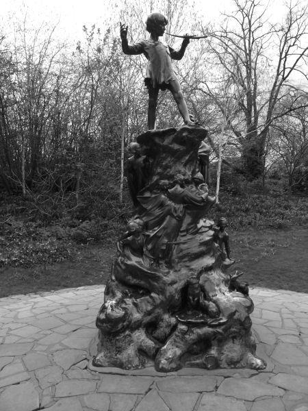 j m barrie peter pan in kensington gardens