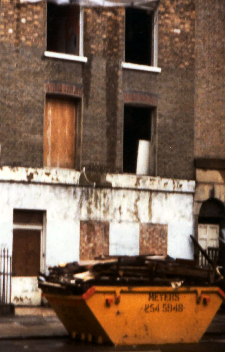 The Acton Street Tenement undergoing re-modernisation during 1980.